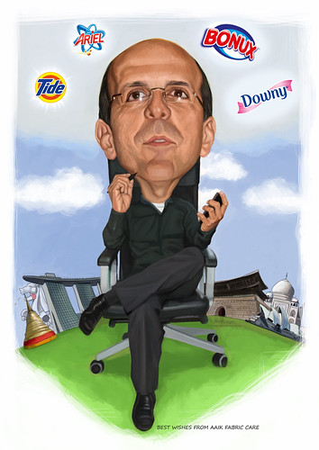 digital caricature for P&G