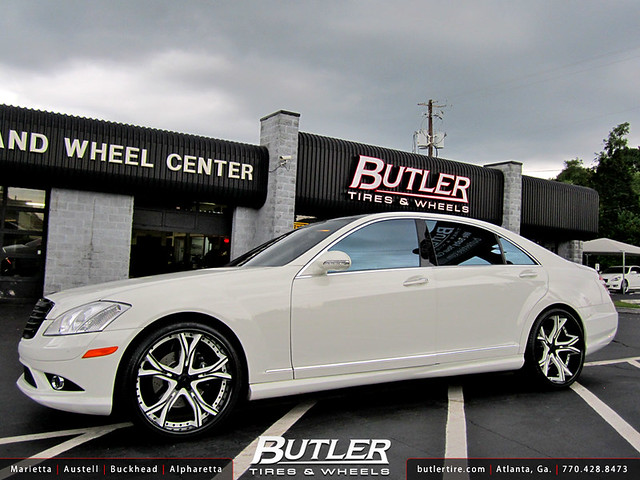 Mercedes Benz S-Class with 22in Asanti CX176 Wheels
