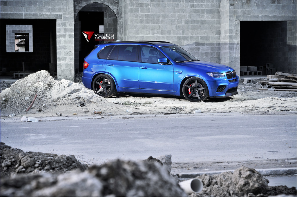 A Blue X5m With A Lot Of Upgrades Built By Velos Designwerks