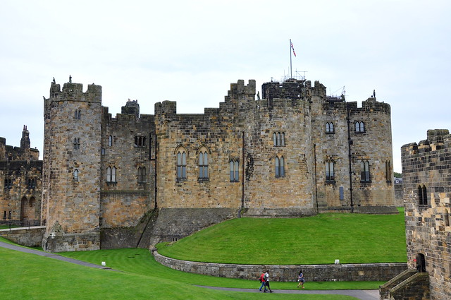 Older side of Alnwick Castle
