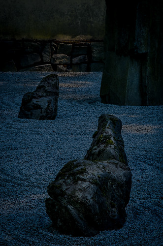The Zen Garden in darkness