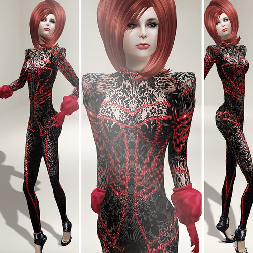 {Meghindo's} ~ Nicki Bodysuit ~ Black Lace ~ / PoSEsioN Set Pose