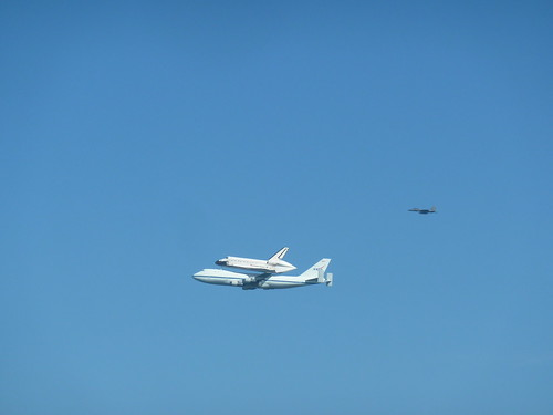 Endeavour with Escort