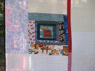 Tiki Detail of Quilt