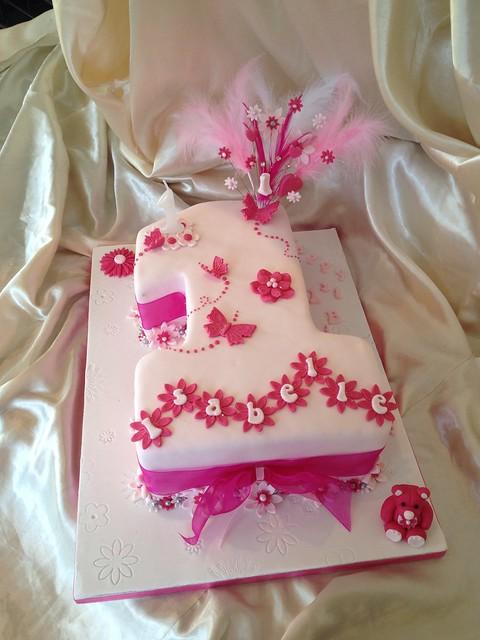 Baby girls 1st birthday cake  Flickr - Photo Sharing!