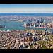 The Hudson Harbor: Downtown Manhattan & Brooklyn by RBudhu