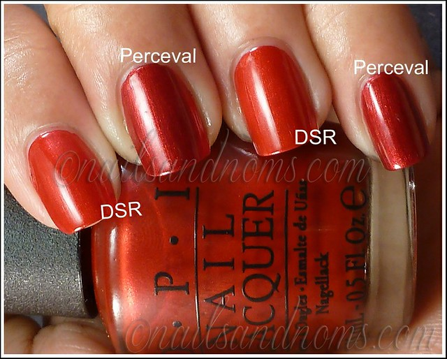 OPI Danke Shiny Red vs A England Perceval