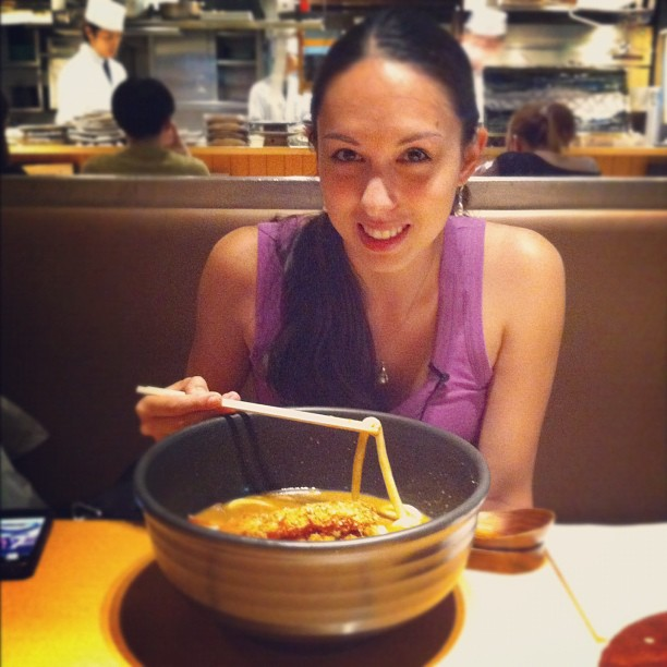 huge bowls of udon