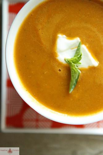 Tomato Zucchini Soup | Heather Christo