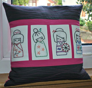 Kokeshi doll cushion