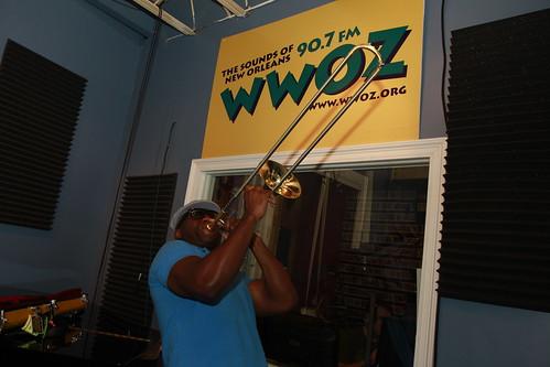 Big Sam at WWOZ!  Photo by Parisa Azadi