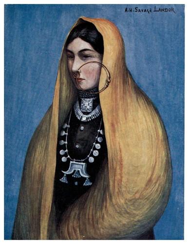 002-Dama nepalesa-Tibet & Nepal-1905-A. H. Savage-Landor