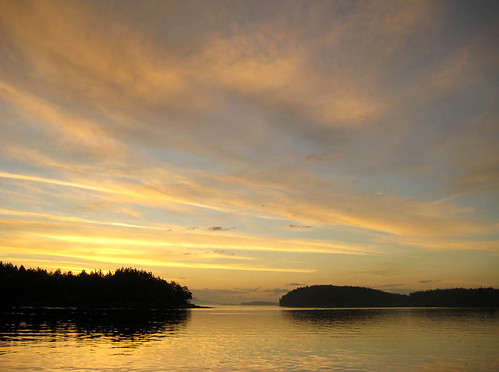 Sunrise from the Salt Spring Island Ferry