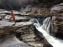 Kirk at Another Falls on Linville River