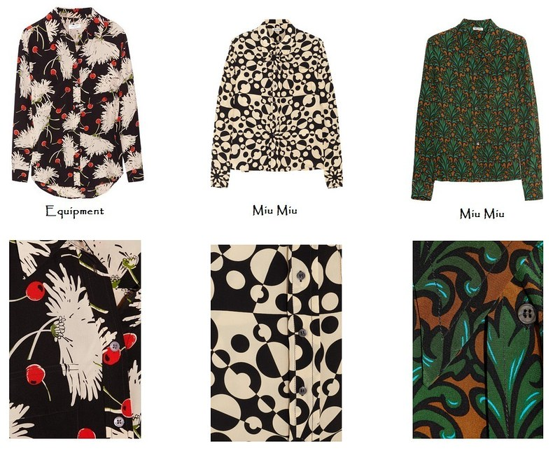 Printed silk shirt fall 2012