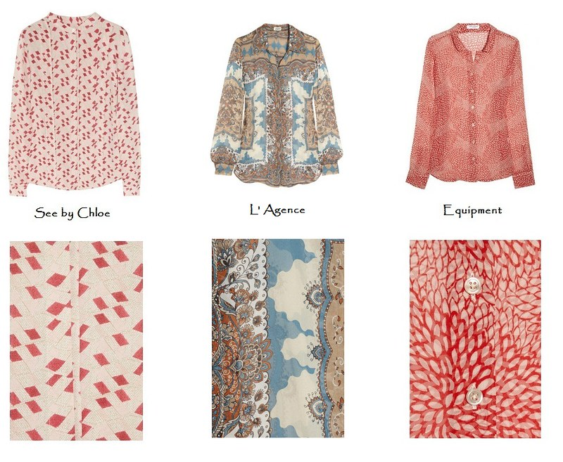Printed silk shirt fall 2012b