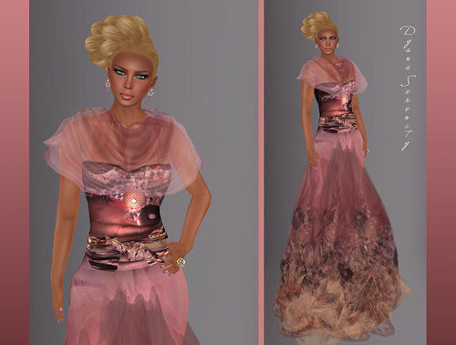 Paris METRO Couture: Kimono Gown_Dusty Rose by Dyana Serenity