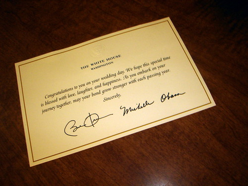 Congrats from Barack & Michelle