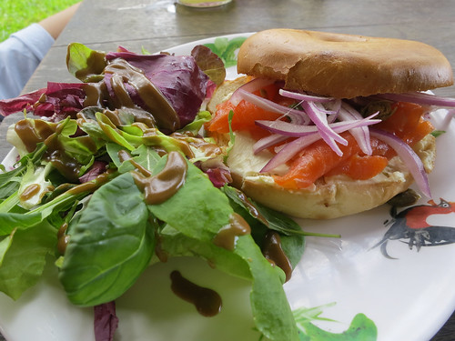 Smoked Salmon Bagel at Epicurious