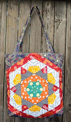 mouth stitches tote front