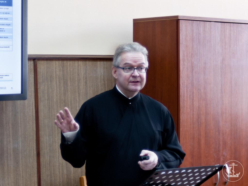 1 октября 2012, Лекция преподавателя Университета Йоэнсуу (Финляндия) диакона Ристо Айконена