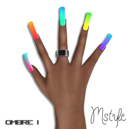 Long Nails v2 - Ombre I by Mikee Mokeev