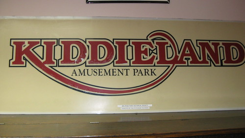 "Plastic Kiddieland Amusement Park sign salvaged from ""The Scooters"" ride.  The Melrose Park Public Library.  Melrose Park Illinois.  Saturday, September 29th, 2012. by Eddie from Chicago"