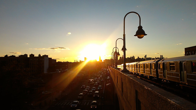Autumn Sunset on Queens Boulevard - Sunnyside, Queens