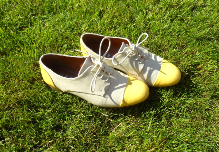 yellow tipped oxfords