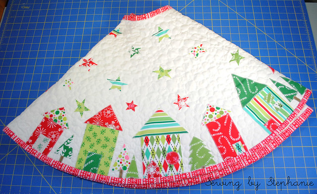 Finished Christmas Tree Skirt