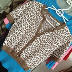 Autumn Cashmere cotton cropped leopard cardigan from tag sale in Great Neck