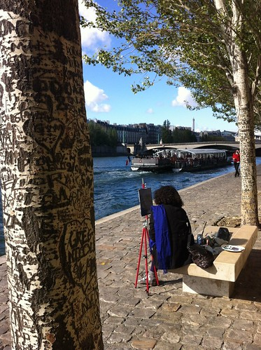 Woman Painter on the Seine