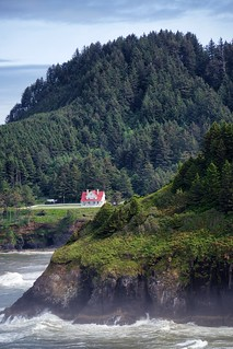 Heceta Head Lighthouse.  Siuslaw National Forest, near Florence, OR.