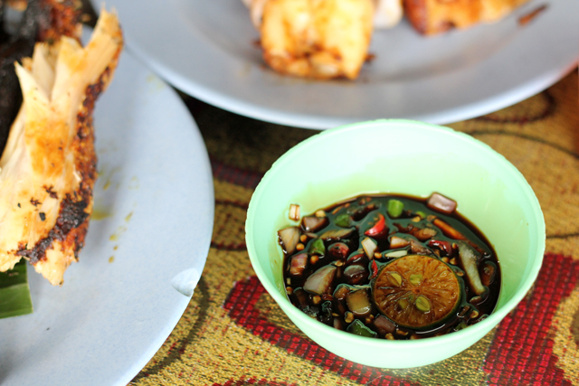 Dark soy chili sauce for Ikan Bakar