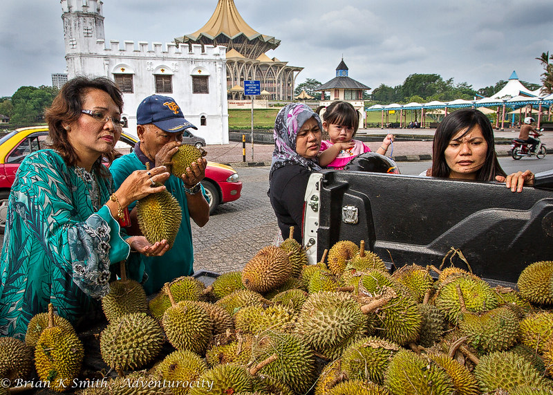 Buying Durian in Kuching