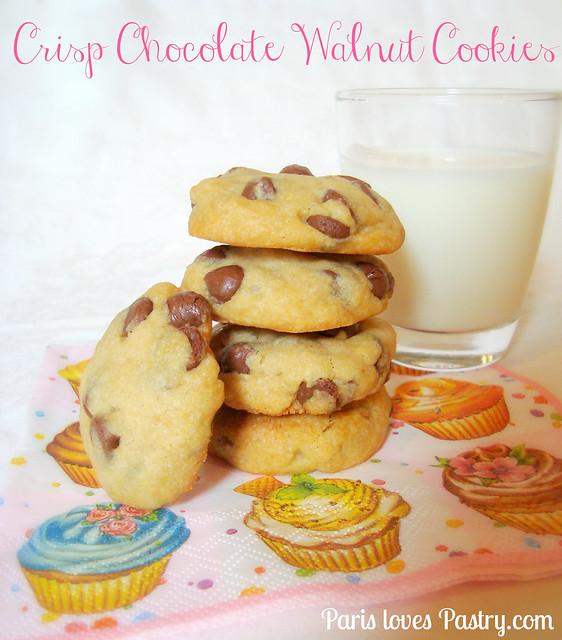 Crips 奶糖 巧克力Walnut 饼干