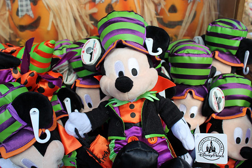 Halloween Mickey plushies