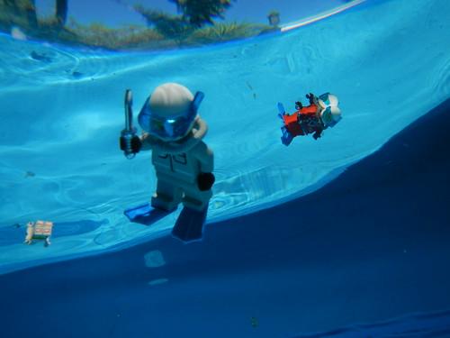 Underwater Lego Minifigure