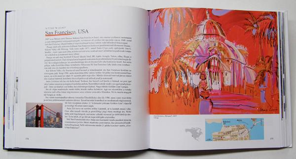 """Aavo Kokk book """"Pintsliga tõmmatud linnad"""", Anna Litvinova painting"""
