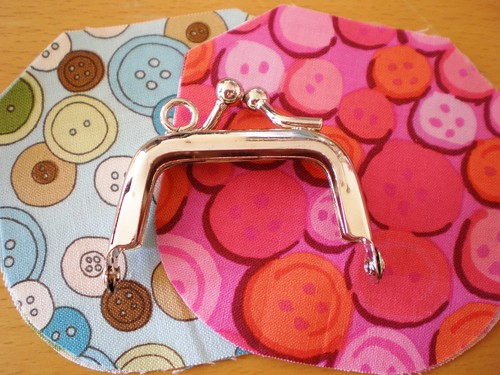 Tiny Silver Purse Frame