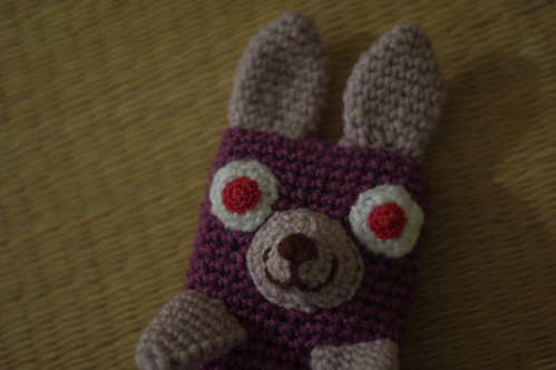 amigurumi#70 bunny iPhone cosy close-up