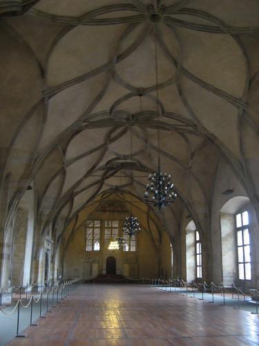 Vladislav Hall of Old Royal Palace in Prague Castle, Czech Republic