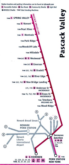 NJ Transit Pascack Valley Line 2010 Map