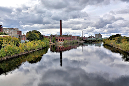 city autumn reflection fall mill water river ma downtown massachusetts lowell merrimackriver hdrunlimited hdrforfree hdrextremes