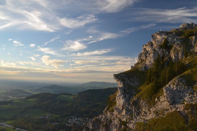 Evening view from below Nockstein