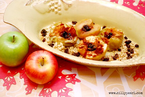 Multiples in the Kitchen-Baked Cinnamon Raisin Apples