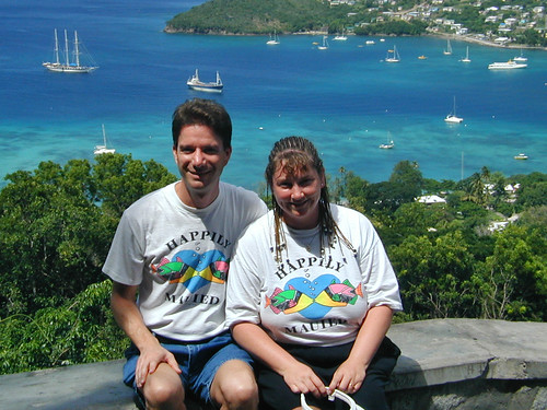 windjammer mandalay travelaunaturel sailing cruise travel vacation 2001 all caribbean grenadines tallship debbie wife spouse girlfriend lover mate sweetheart bbw kevin me suncat bequia