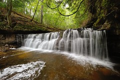 (Lower) Mosquito Falls Pictured Rocks National Lakeshore by Michigan Nut
