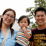 Japanese Family on Miyajima Island, Japan
