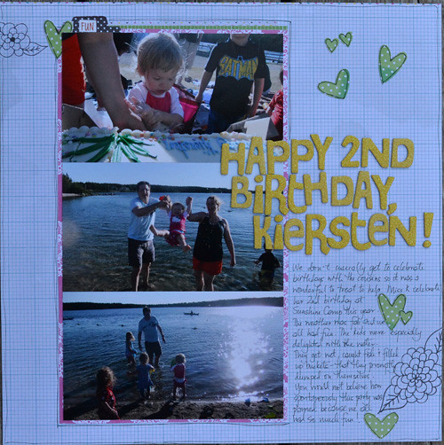Happy 2nd Birthday Kiersten